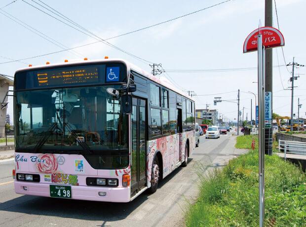 中国バス「四ツ樋」バス停