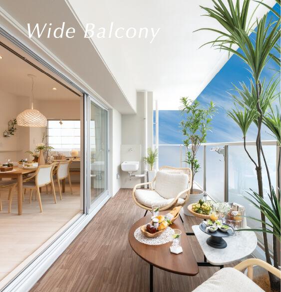 wide balcony